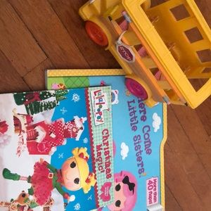 Other - Lalaloopsy Bundle (bus and 2 books)